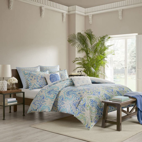 10. Echo Design Ravi Comforter Set, Blue
