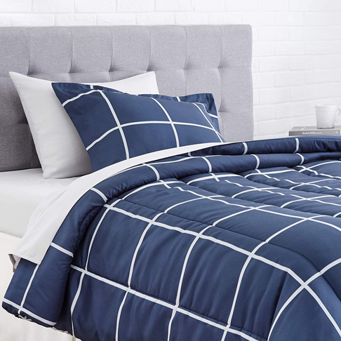 1. AmazonBasics 5-Piece Microfiber Bed-In-A-Bag Comforter, Pack of 4 -Preferred