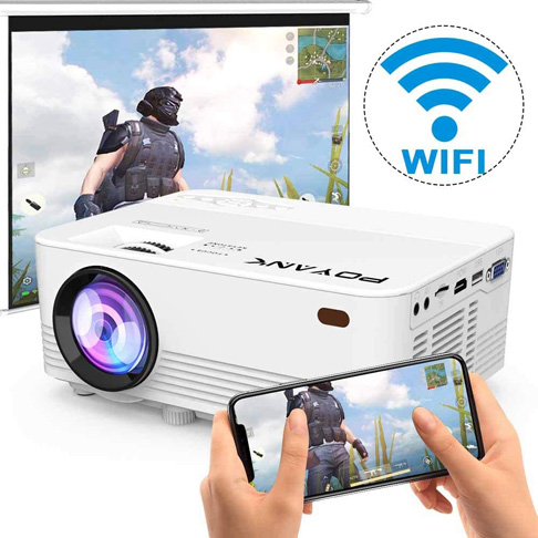 5. POYANK 4500Lux LED WiFi Mini Projector