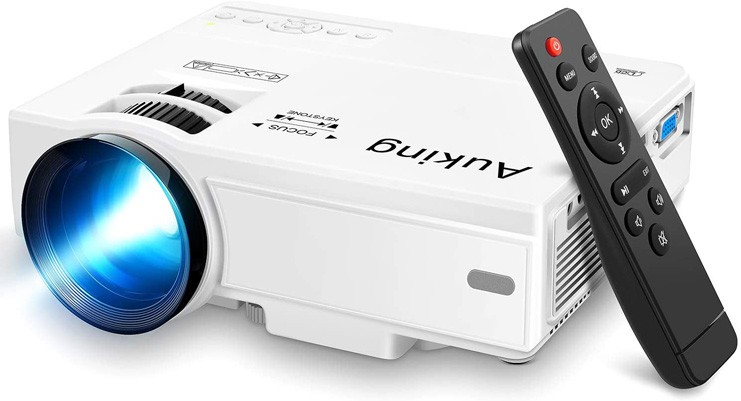 4. AuKing Portable Mini Video-Projector