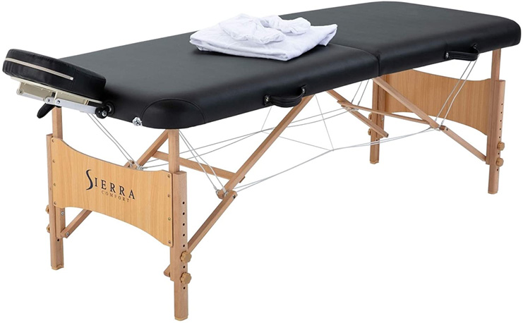 1. Sierra Comfort All Inclusive Portable Massage Table, Black -Preferred