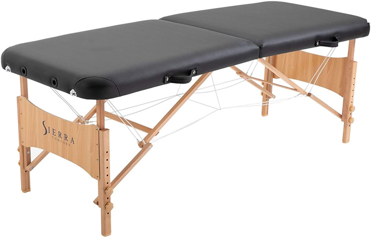 2. SierraComfort Basic Portable Massage Table, Black