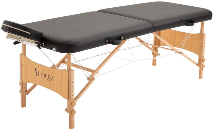 5. SierraComfort SC-501A Preferred Portable Massage Table (Black),