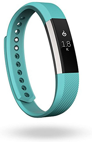 9. Fitbit Alta Fitness Tracker, Silver/Teal