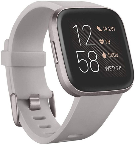 1. Fitbit Versa 2 Health and Fitness Smartwatch with Heart Rate -Preferred
