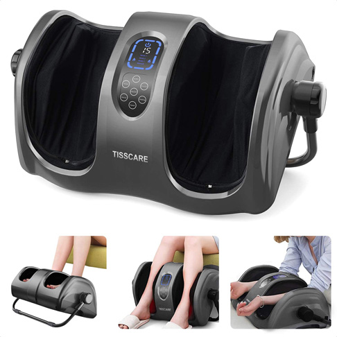 8. TISSCARE Foot Massager Machine with Heat