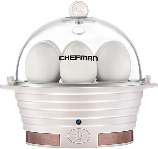 6. Chefman Electric Egg Cooker, Ivory