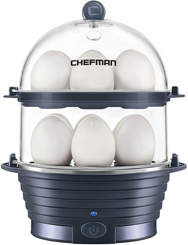 7 Chefman Electric Egg Cooker, Midnight Blue