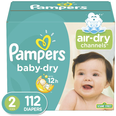6. Pampers Baby Dry Disposable Baby Diapers, Super Pack