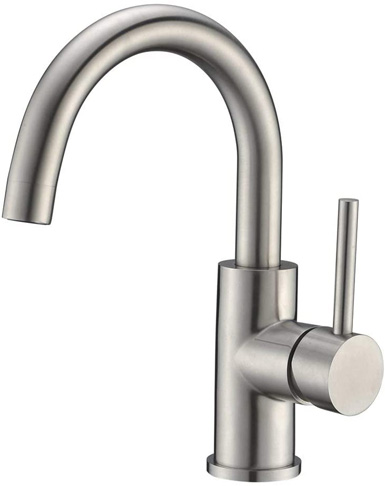 2. Crea Stainless Steel Bar Sink Faucet -Preferred