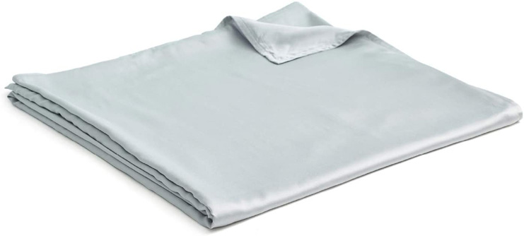 1. YnM Bamboo Duvet Cover for Weighted Blanket (Light Grey, 48''x72'') -Preferred
