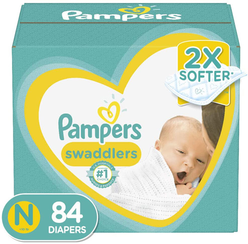 5. Pampers Swaddlers Disposable Baby Diapers, Newborn/Size (< 10 lb) -Preferred