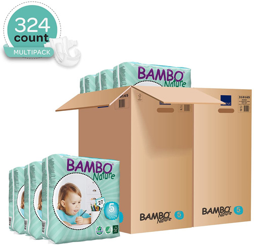 8. Bambo Nature Eco Friendly Baby Diapers, Off-White