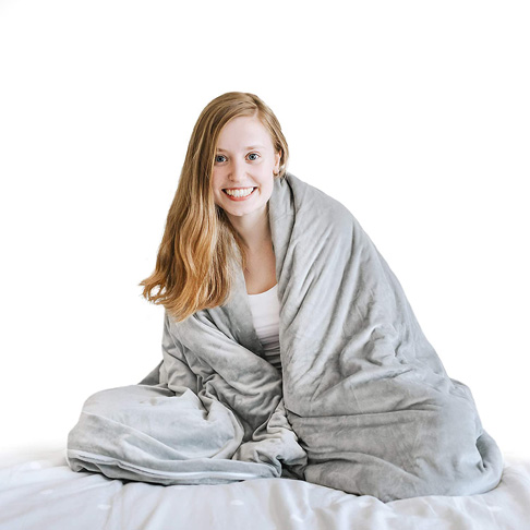 9. Nuzzie Weighted Blanket Duvet Cover for 41