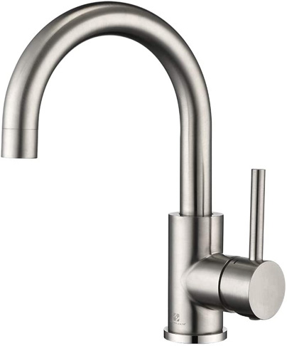5. HOMELODY Stainless Steel Bar Sink Faucet, Grifo -Preferred