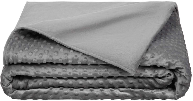 8. 5 STARS UNITED Weighted Blanket Cover, Grey -Preferred