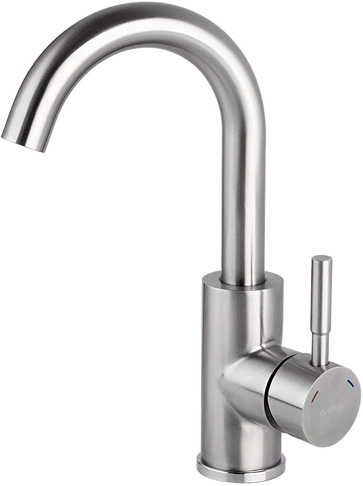7. GAPPO Brushed Nickel Bar Sink Faucet