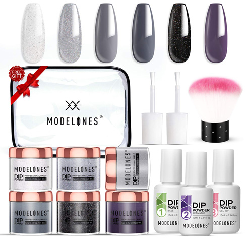9. Modelones Dipping Powder Kit with 6 Colors
