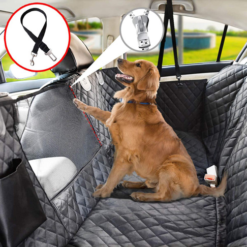 5. Vailge Dog Seat Cover for Back Seat with Mesh -Preferred