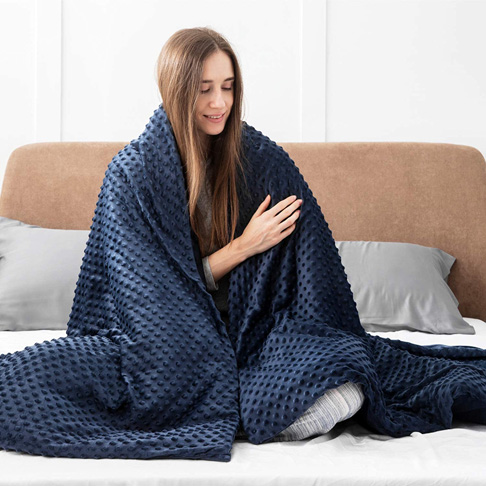 7. Bedsure 15 pounds Weighted Blanket with Removable Duvet Cover-Preferred