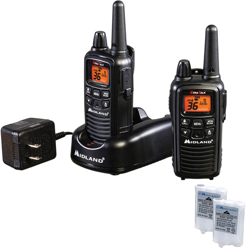 1. Midland - LXT600VP3, 36 Channel FRS Two-Way Radio (Black)