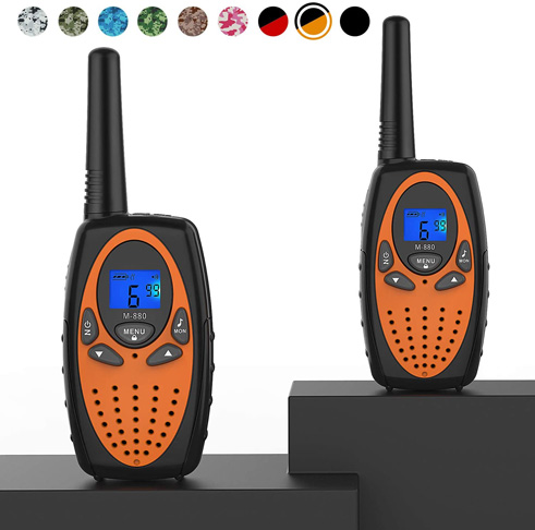 2. Topsung Two Way Radios for Adults, M880 FRS (Orange 2 in 1) -Preferred