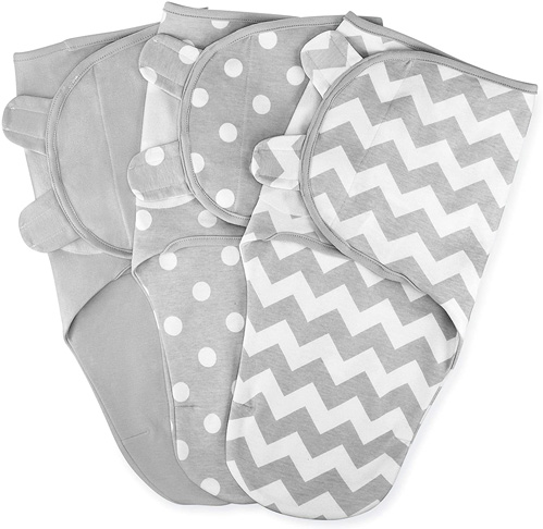 3. Comfy Cubs Swaddle Blanket Newborn Babies (Gray)