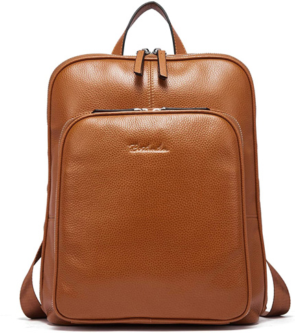 9. BOSTANTEN Backpack Purse for Travel, Genuine Leather -Preferred