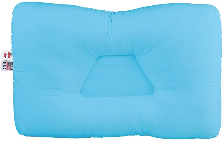 2. Core Products Tri-Core Cervical Support Pillow for Neck Pain, Blue