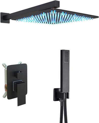 5. Saeuwtowy Wall Mounted LED Shower System