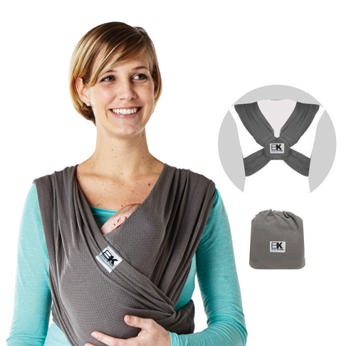 5. Baby K'tan Breeze Baby Wrap Carrier, Infant and Child Sling