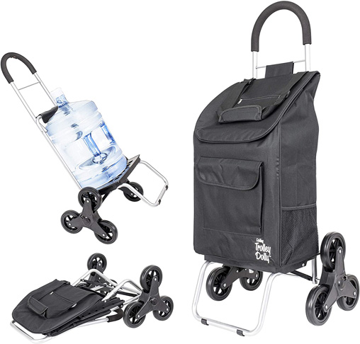 3. dbest products Stair Climber Trolley Dolly, Black