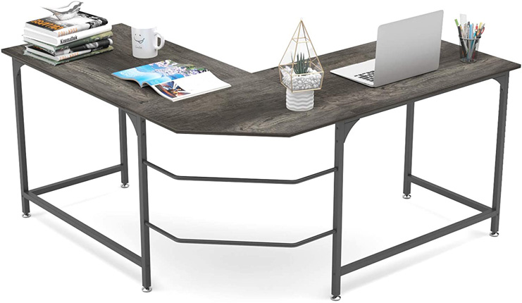 """7. Elephance 59"""" Large L Shaped Corner Computer Gaming Table"""
