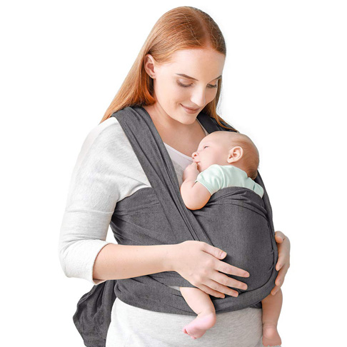 10. Eco inspired Baby Wrap Breathable Newborn Carrier Sling - Preferred