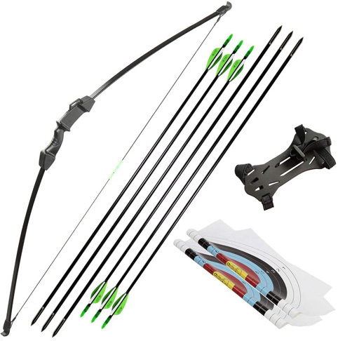 9. Linkboy Archery Takedown Recurve Bow and Arrow Set for Kid Youth Teens