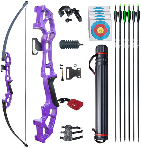"""7. D&Q Archery 50"""" Takedown Bow and Arrows Set for Adults"""