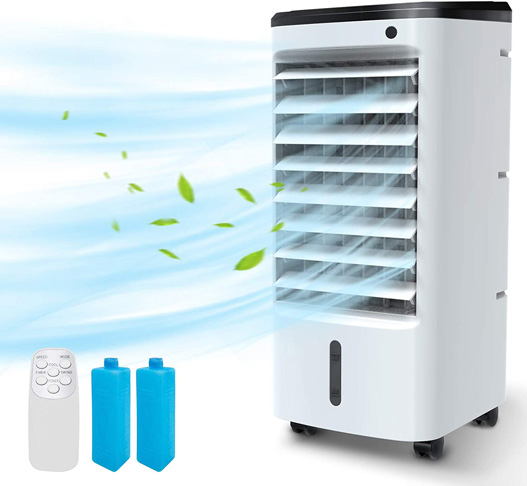 3. BREEZEWELL 3-IN-1 Portable Evaporative Air Cooler