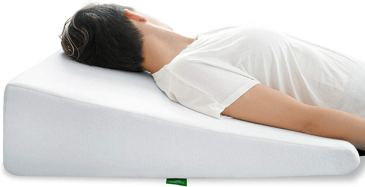 7. Cushy Form Wedge Pillow for Post Surgery & Leg Elevation
