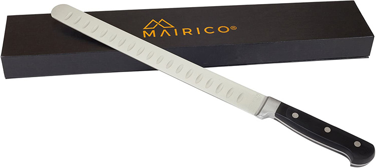 2. MAIRICO Ultra Sharp 11-inch Stainless Steel Carving Knife - Preferred