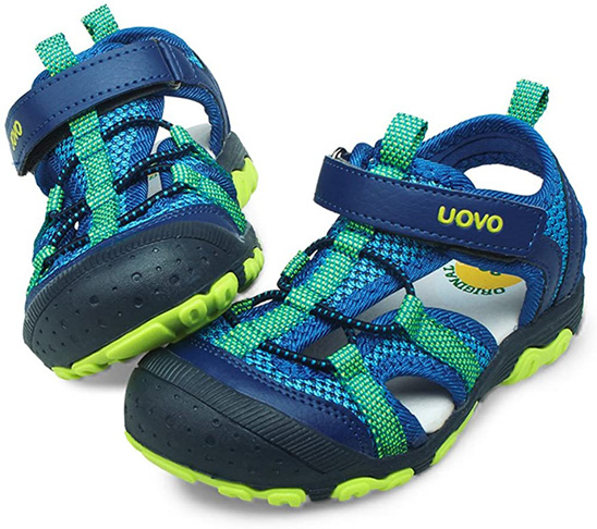 6. UOVO Closed-Toe Beach Summer Sandals for Boys