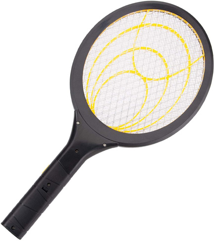 7. mafiti Electric Fly Swatter for Indoor and Outdoor (1-Pack Yellow)