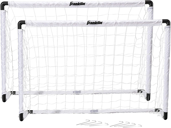"""5. Franklin Sports Kids Soccer Goal Set with Ground Stakes (54"""" x 36"""")"""