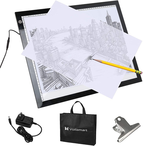 8. Voilamart A3 Portable Tracing Light Box with Carry Bag - Preferred