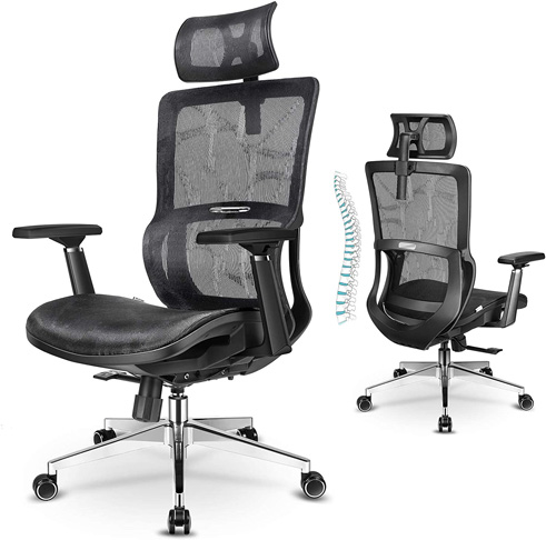 9. mfavour Ergonomic Office Chair with Lumbar Support
