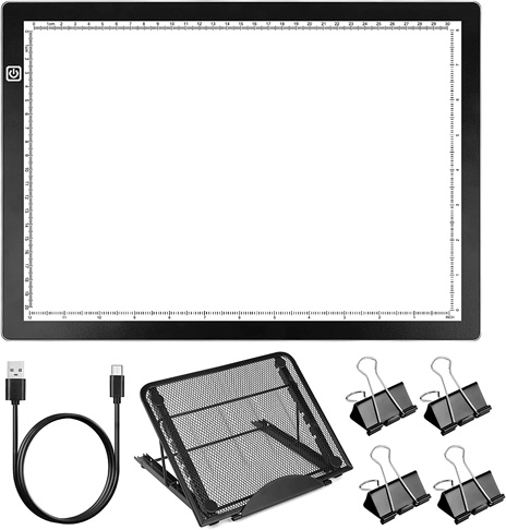 9. HIRALIY A4 LED Light Box for Tracing