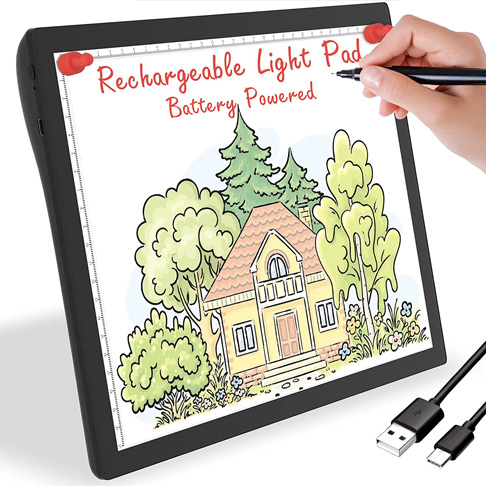 10. Golspark Rechargeable Light Box for Tracing Board - Preferred