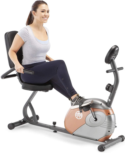 1. Marcy ME-709 Recumbent Exercise Bike with Resistance - Preferred