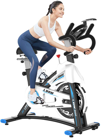 10. pooboo Stationary Indoor Cycling Exercise Bike